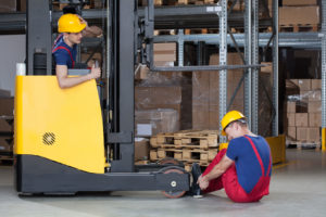 forklift accident in warehouse for worker's comp claim help contact skilled worker injury lawyer in Hampton