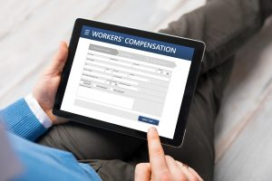 Man applying for workers compensation representing how you should contact our Hampton workers comp lawyers for assistance.